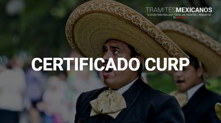 Tramitar Certificado CURP