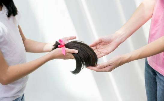 Entrega de cabello donado