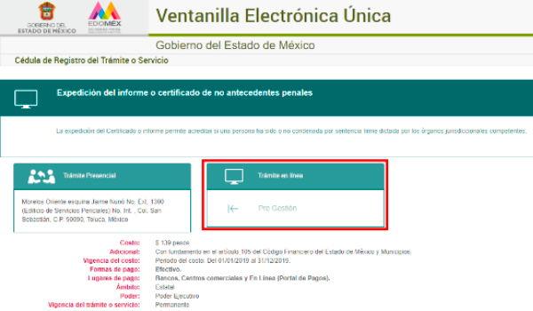pagina web del gobierno de estado de mexico