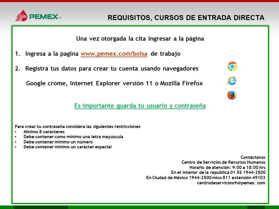 Requisitos para entrar a Pemex