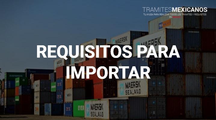 Requisitos para importar