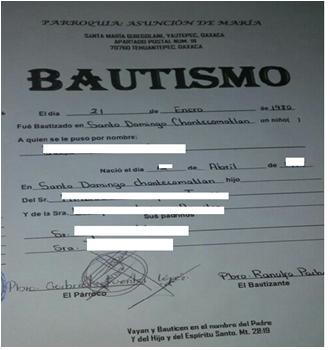 Certificado De Bautismo En México 2021