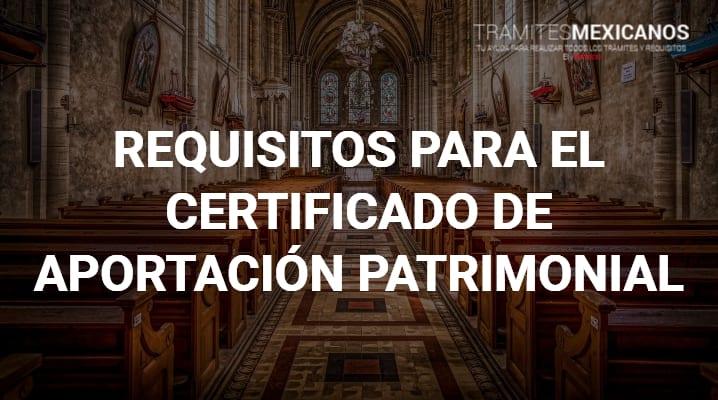 Certificado de aportación