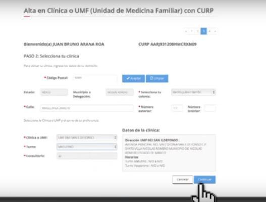 alta en clinica o UMF