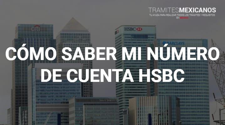 Como saber mi número de cuenta HSBC