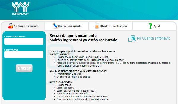 portal web de consulta de infonavit