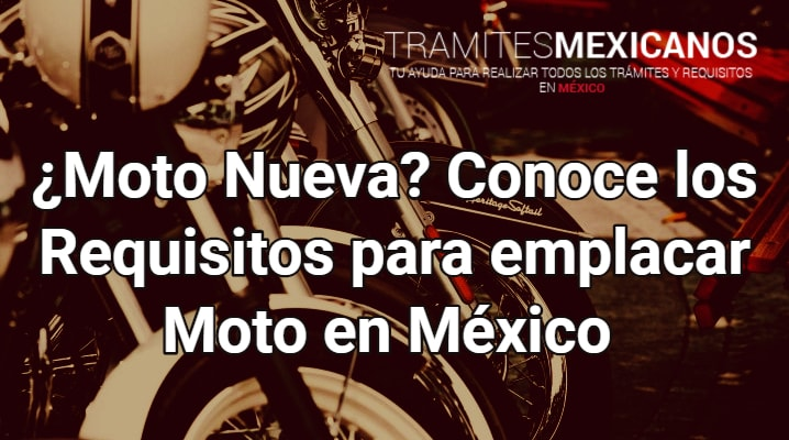 Requisitos para emplacar moto