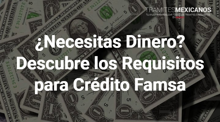 Requisitos para crédito famsa