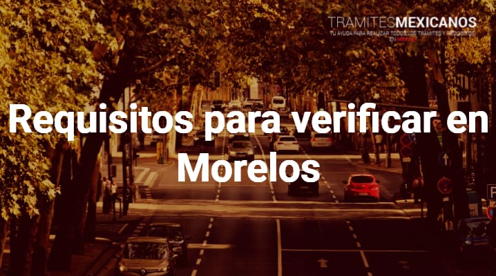 Requisitos para verificar en Morelos