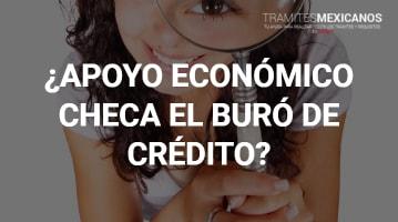 Apoyo Económico Checa el Buró de Crédito