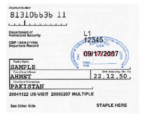 Cuál es el formulario I-94 1