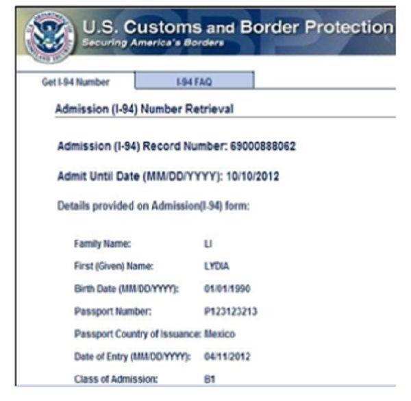 Cuál es el formulario I-94