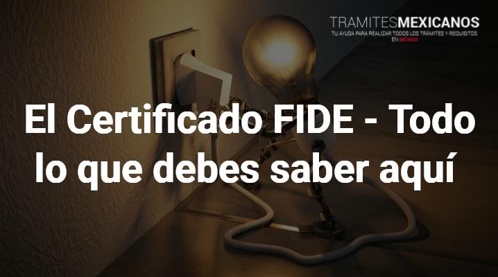 certificado FIDE