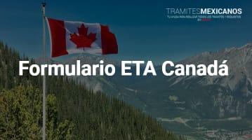 Formulario ETA Canadá