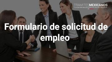 Formulario de solicitud de empleo