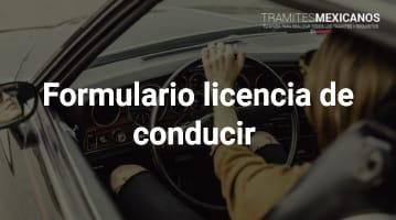 Formulario licencia de conducir