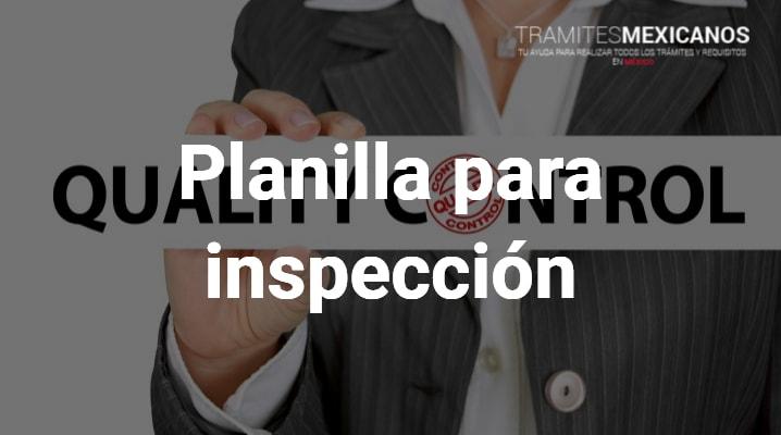 Planilla de inspección
