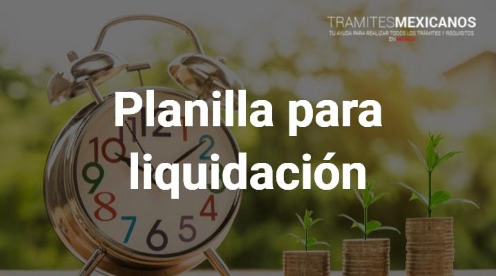 Planilla de liquidación