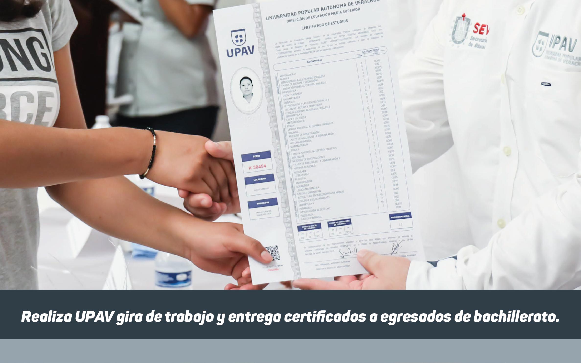 Certificado UPAV