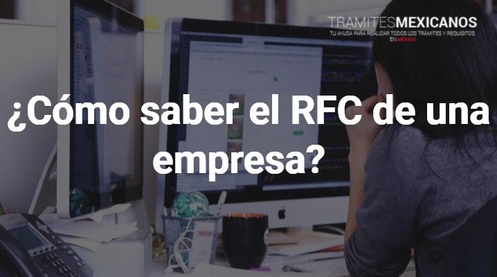 Como saber el RFC de una empresa