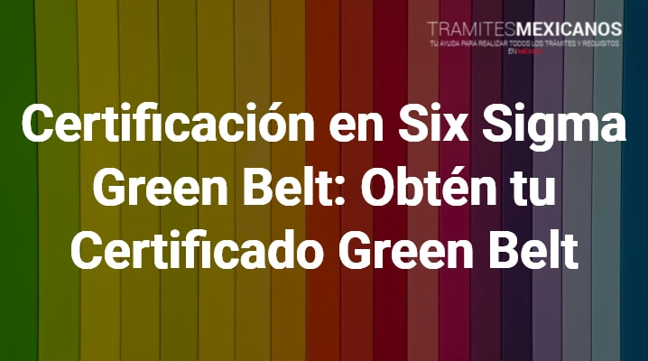 Certificado Green Belt