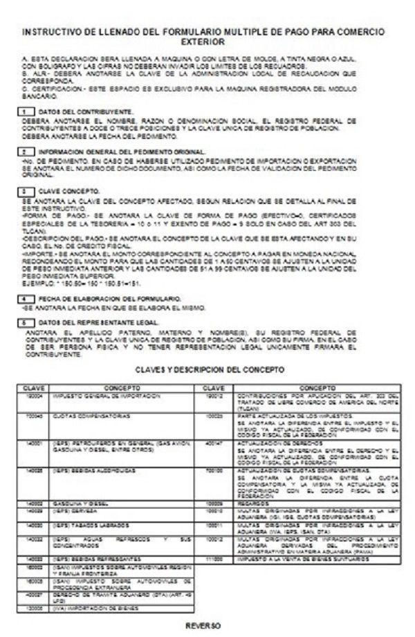 Modelo de un formulario múltiple de pago