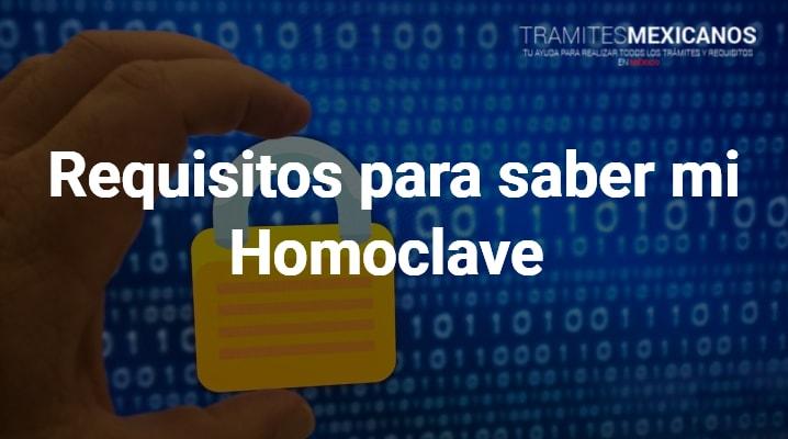 Como saber mi homoclave